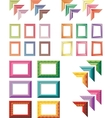 elegant and colorful art frames vector image