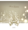 Elegant Christmas background with bow and place