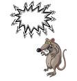 evil rat-100 vector image vector image