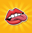 fashion lipss badges icon vector image vector image