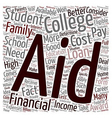 Financial Aid Myths text background wordcloud vector image vector image