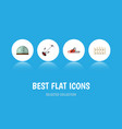 flat icon dacha set of hothouse grass-cutter vector image vector image