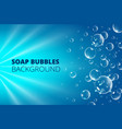 floating bubbles beautiful background for vector image vector image