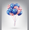 flying glossy usa flag pattern balloons vector image vector image