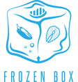 food box concept with frozen products for bbq icon vector image vector image