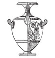greek vase is a tall wine jar with two or three vector image vector image