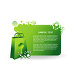 green bag vector image