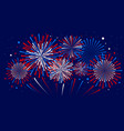 holiday firework independence day of america vector image vector image
