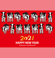 holstein cows line up 2021 new years card