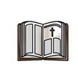 holy bible open vector image vector image