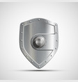 icon metal safe in the form of a shield vector image