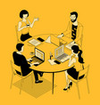 isometric business communication vector image vector image