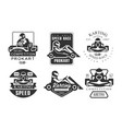 karting competition premium retro labels set vector image