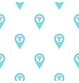 light blue map pointer with wi fi symbol pattern vector image vector image