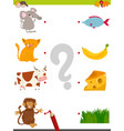 match pictures educational game vector image