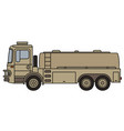 military tank truck vector image vector image