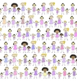 Mums and Daughters Pattern vector image
