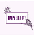 national bird day vector image vector image