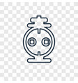 outlet concept linear icon isolated on vector image