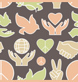 peace icons pattern vector image