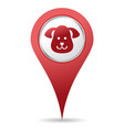 pets location icon vector image vector image