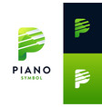 piano logo icon template vector image vector image