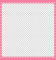 pink and white square border made of animal paws vector image vector image