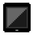 Pixel Art Black Tablet vector image vector image