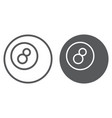 pool ball line and glyph icon game and sport vector image