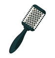 professional hair brush of round shape and vector image vector image