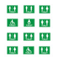 restroom sign icon set vector image vector image