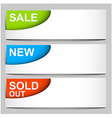 sale sold new - corner icons vector image vector image