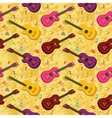 Seamless background guitars vector image