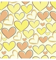 Seamless pattern with silhouettes of hearts vector image vector image