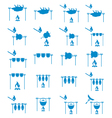 Set of camp cooking icons vector image