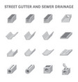 sewer gutter icon vector image vector image
