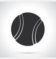 silhouette tennis ball vector image vector image