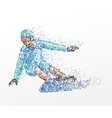 slalom abstraction snowboarding vector image vector image