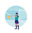 soccer referee man avatar character vector image