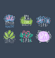 spa club logo design collection beauty salon vector image vector image
