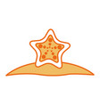 starfish tropical summer icon vector image vector image