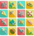 Summer vacation icons flat diagonal slanted vector image vector image
