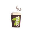 take away coffee cardboard cup with lid vector image