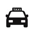 taxi icon vector image vector image