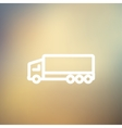 Trailer truck thin line icon vector image