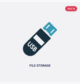 two color file storage icon from technology vector image vector image