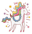 unicorn fantasy cartoon vector image