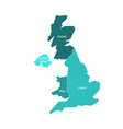 united kingdom uk of great britain and northern vector image vector image