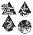Vintage music shop emblems vector image vector image