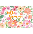 Watercolor flower summer vector image vector image